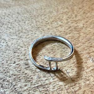 Helzberg Diamonds Sterling Silver Ring Sz 7